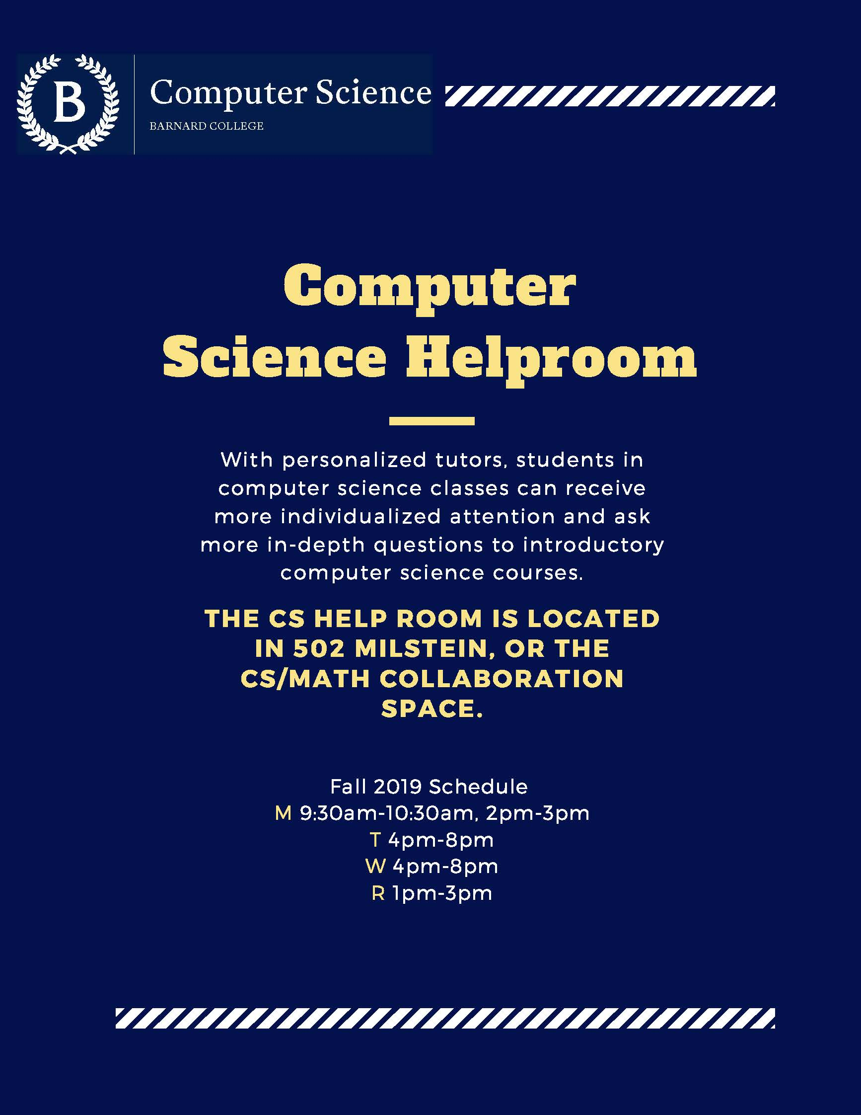 CS Help Room Flyer